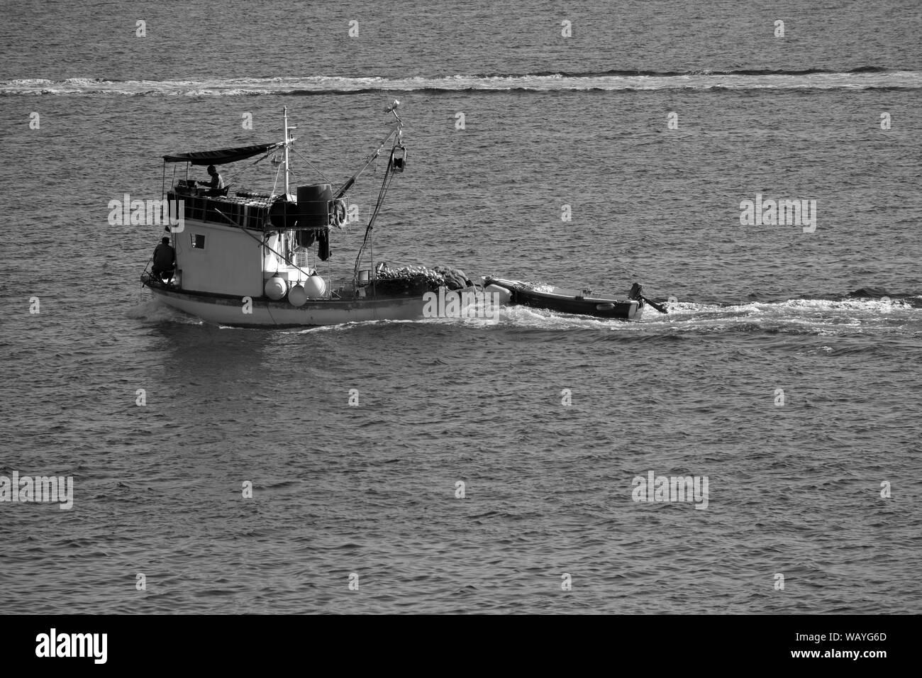 FISCHKUTTER . FISHING CUTTER Stock Photo