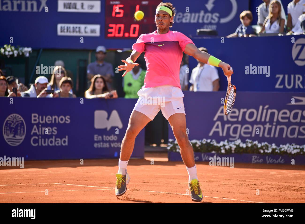 Rafael Nadal Forehand Shot Stock Photo Alamy