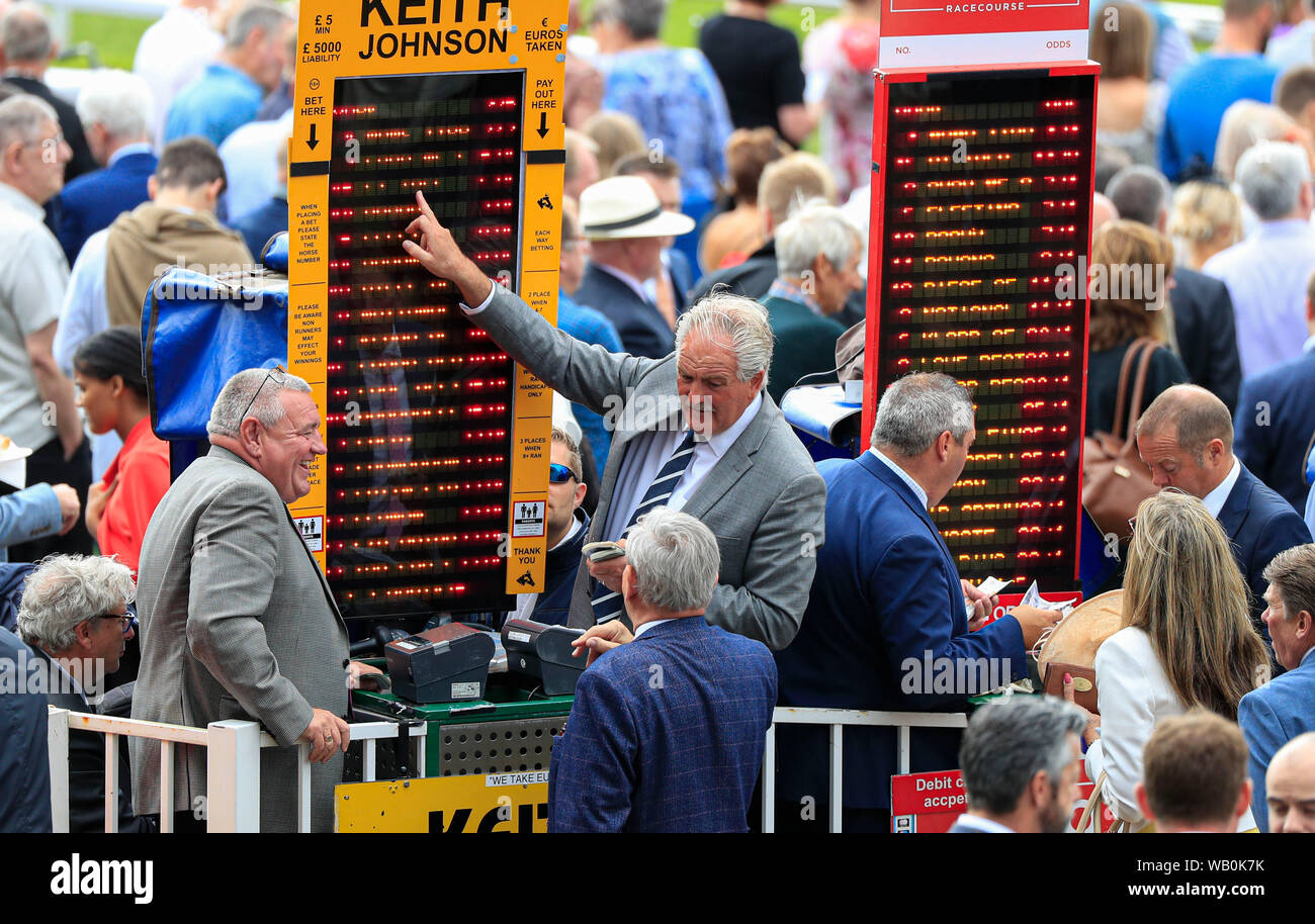 Racecourse Bookmakers Stock Photos & Racecourse Bookmakers