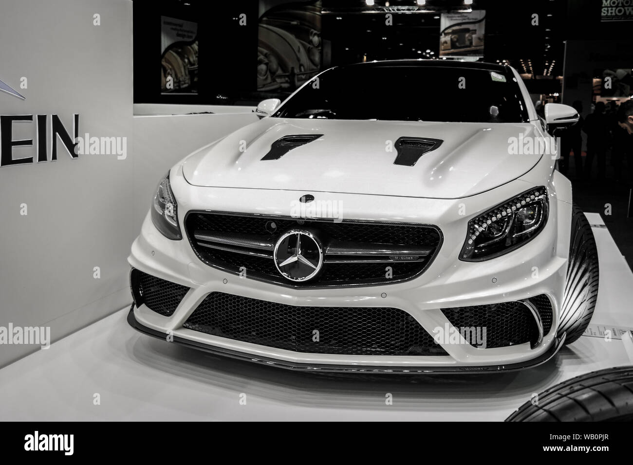 Mercedes Benz Epic Amg Modified Car Mercedes Displaying Their Cars In A Motor Show In Dubai Stock Photo Alamy