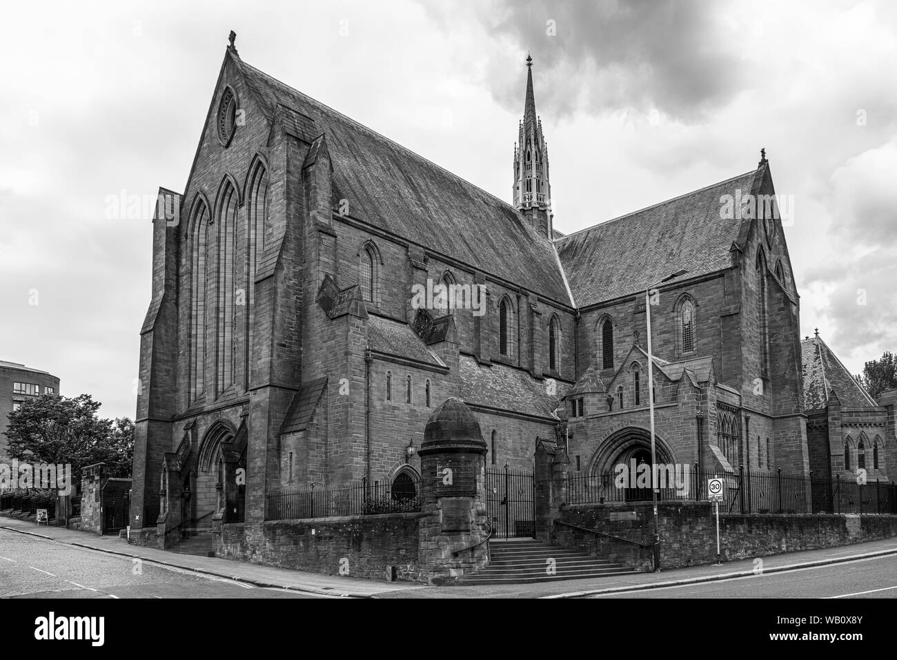 Glasgow, Scotland, UK - June 22, 2019: The Barony Parish Church in Castle Street at intersection with Rottenrow and Macleod Street Now University of S Stock Photo