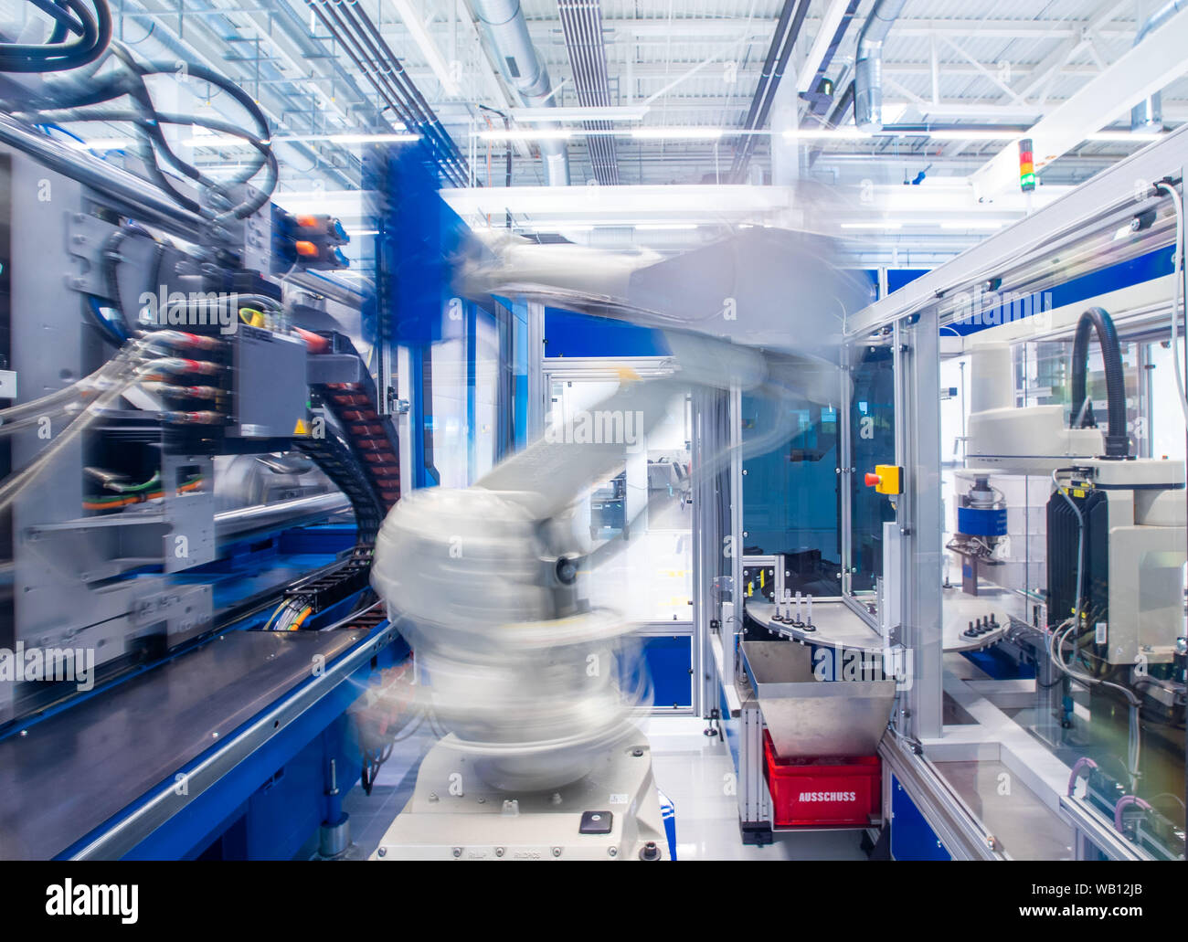 Industrial Injection Moulding Machine Stock Photos