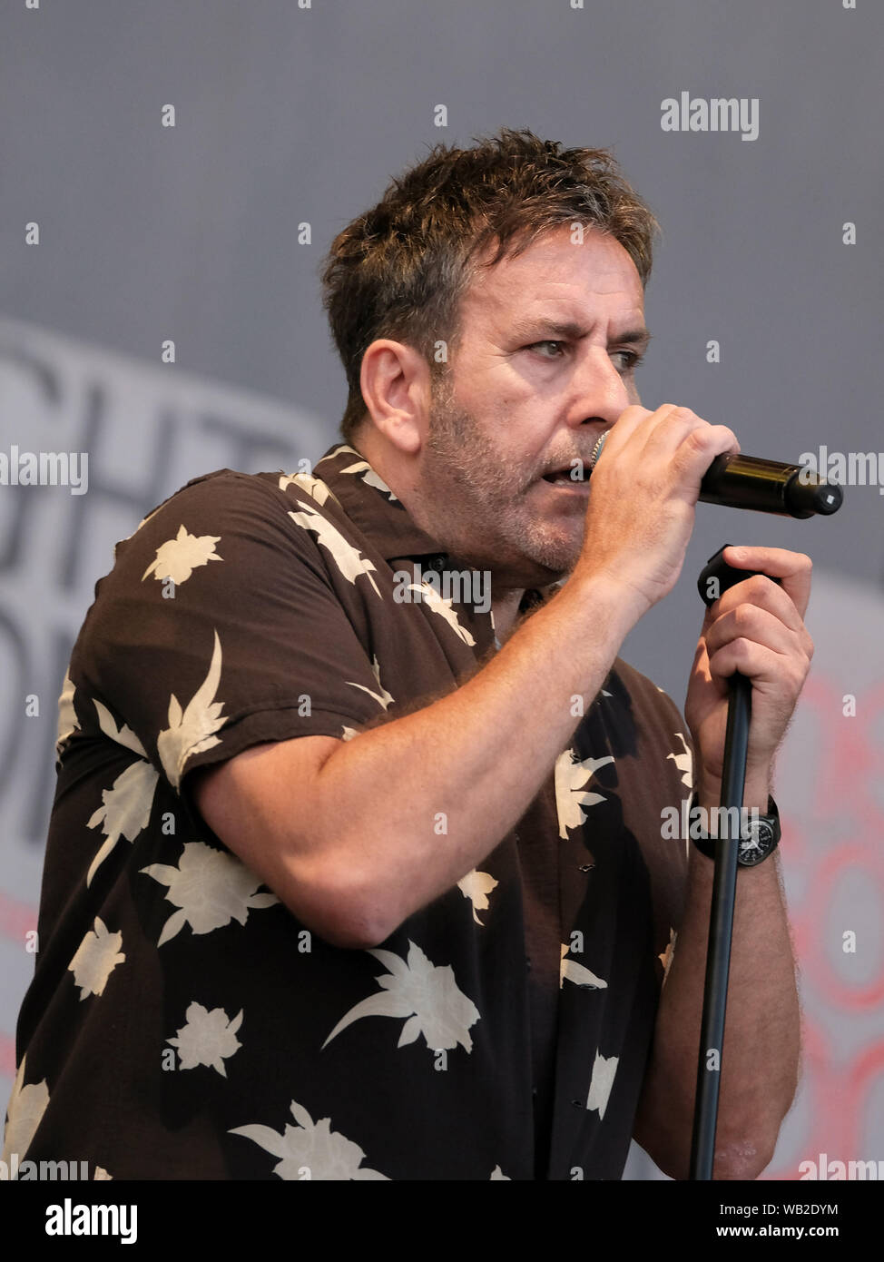 Portsmouth, Hampshire, UK. August 23rd 2019. Terry Hall vocalist with the Specials performing live on stage at Victorious Festival, Southsea, Portsmouth, Hampshire UK Credit: Dawn Fletcher-Park/Alamy Live News Stock Photo