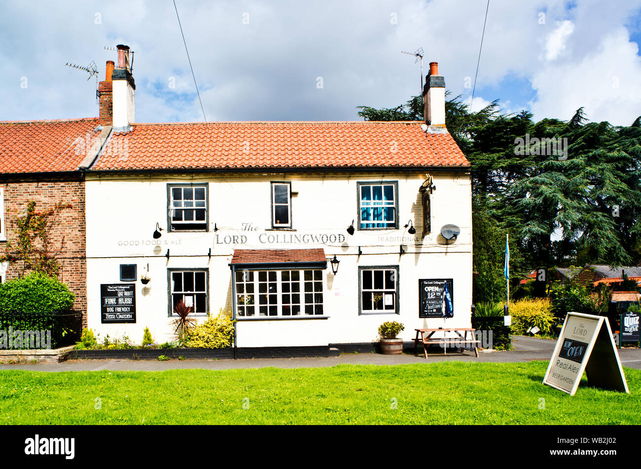 The Lord Collingwood pub, Upper Poppleton, North Yorkshire, England Stock Photo
