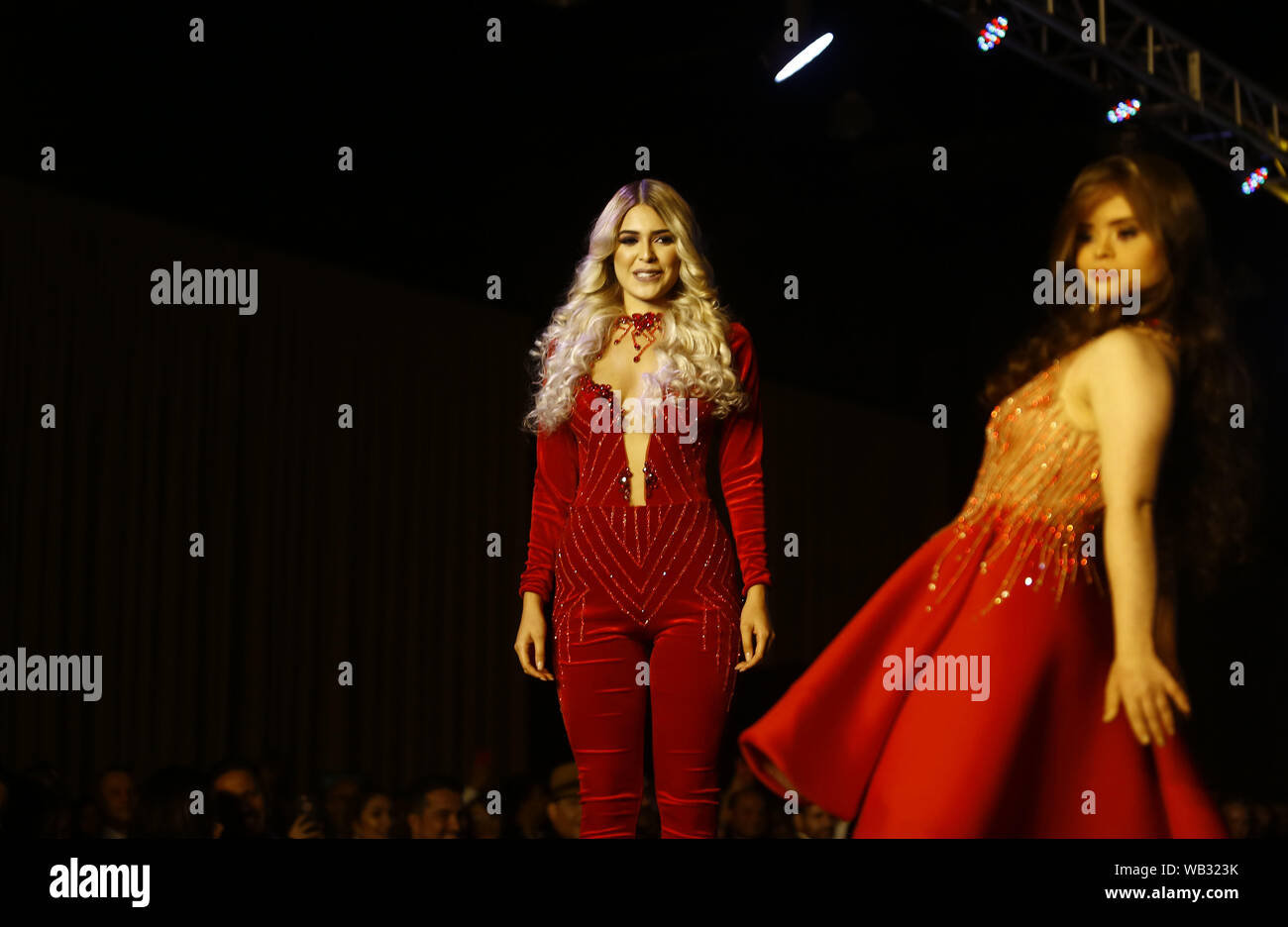 Valencia Carabobo Venezuela 22nd Aug 2019 August 23 2019 A Model With Down Syndrome R Participates In The Fashion Show Come Together By Fashion Designer Daniel Fabregas Who Included Among Its 150
