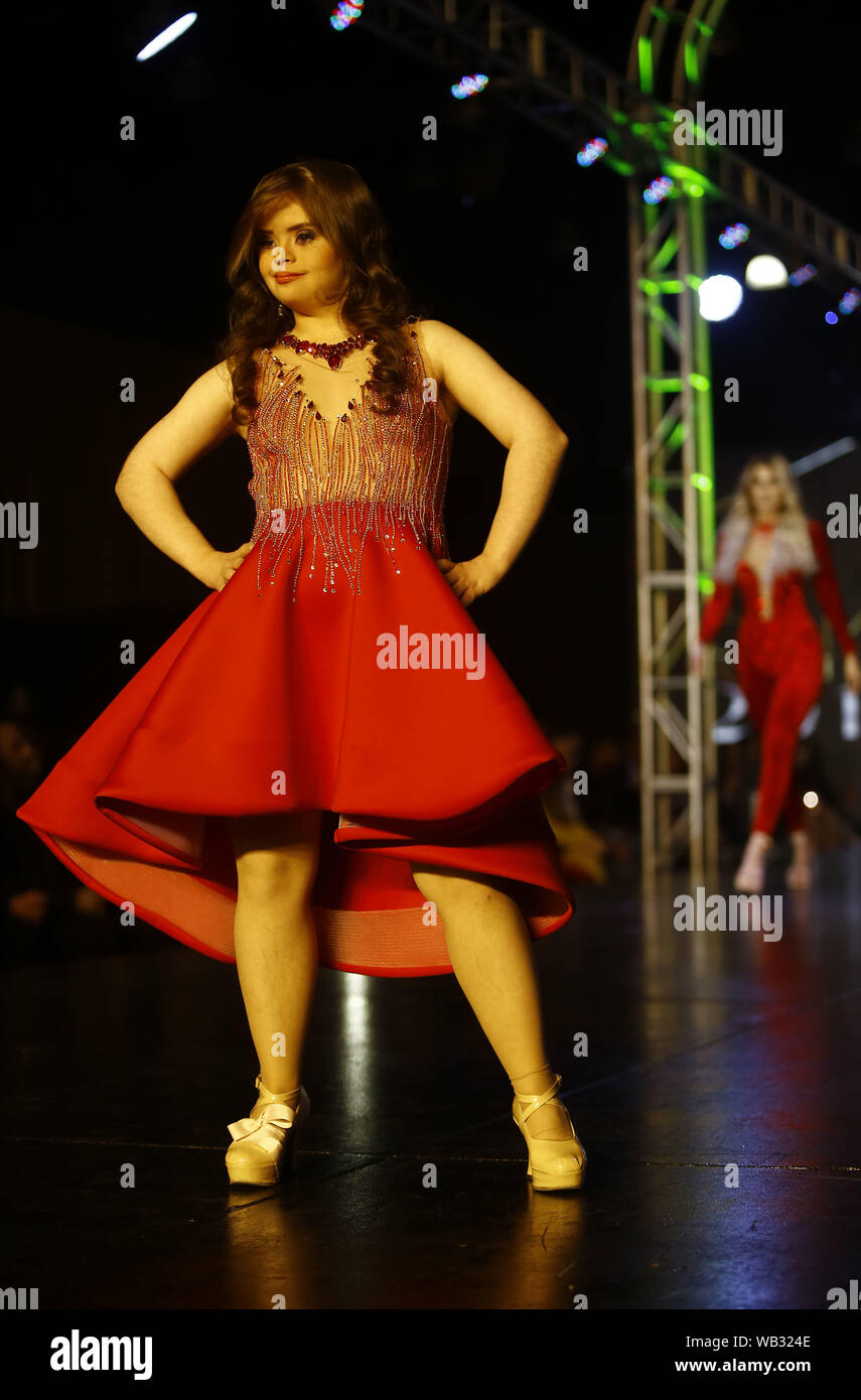 Valencia Carabobo Venezuela 22nd Aug 2019 August 23 2019 A Model With Down Syndrome Participates In The Fashion Show Come Together By Fashion Designer Daniel Fabregas Who Included Among Its 150 Models