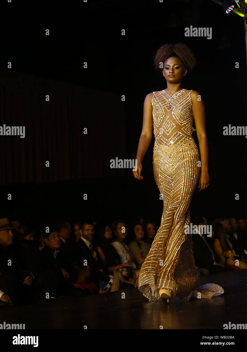 Valencia Carabobo Venezuela 22nd Aug 2019 August 23 2019 A Model Of Afro Descendant Characteristics Participates In The Fashion Show Come Together Of Fashion Designer Daniel Fabregas Who Included Among Its 150 Models