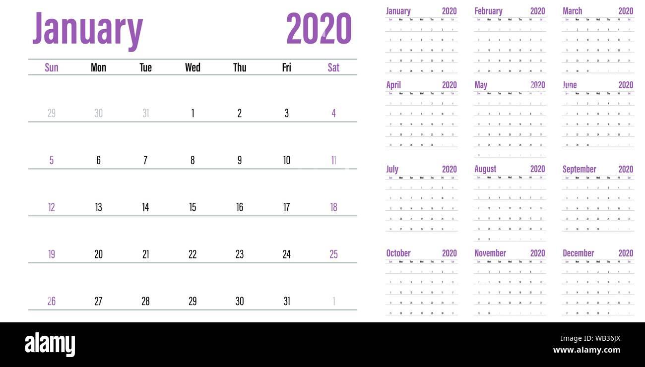 Modena Dog Calendario 2020.2020 Calendar Stock Photos 2020 Calendar Stock Images