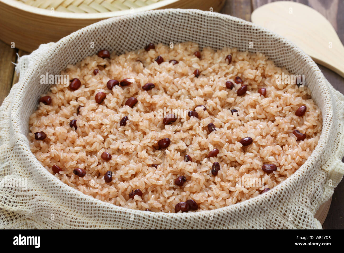 Sekihan, steamed sticky rice with red beans, Japanese food Stock Photo