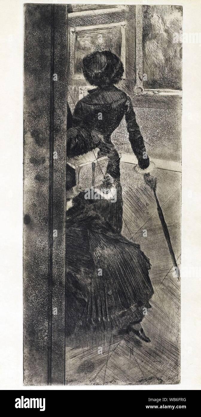 Edgar Degas Au Louvre La Peinture Mary Cassatt C1879 1880 Stock Photo Alamy