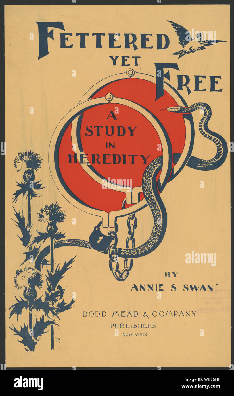 Fettered yet free, a study in heredity by Annie S. Swan ... / Hurd. Abstract/medium: 1 print: color; 52 x 32 cm Stock Photo