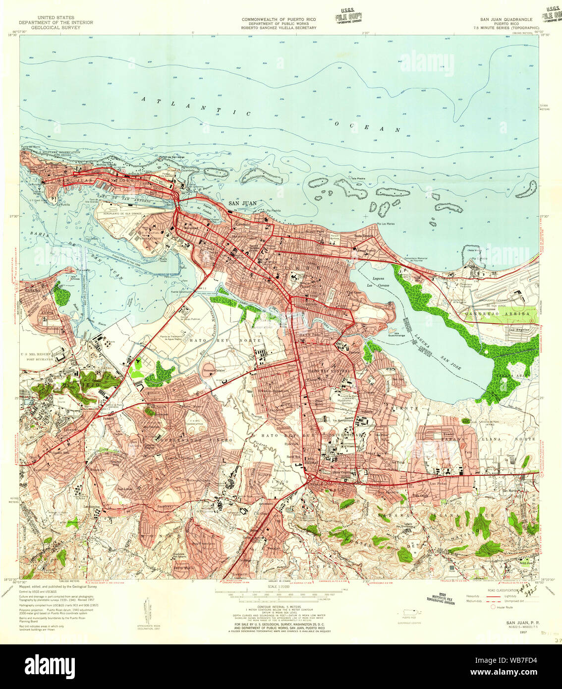 USGS TOPO Map Puerto Rico PR San Juan 362269 1957 20000 ... San Juan Puerto Rico Map on united states virgin islands, san juan on world map, san juan nm map, fort san felipe del morro, bogota colombia map, old san juan, el yunque national forest, san jose, florida map, san juan spain map, guatemala city, puerto rican people, san juan cruise terminal map, tegucigalpa honduras map, miami map, old san juan map, managua nicaragua map, san juan isla verde map, santo domingo, dallas texas map, san salvador, san juan caracas map, rio de janeiro brazil map, san juan airport map, caribbean map, saint thomas, san juan city map, san juan belize map, lima peru map, caracas venezuela map,