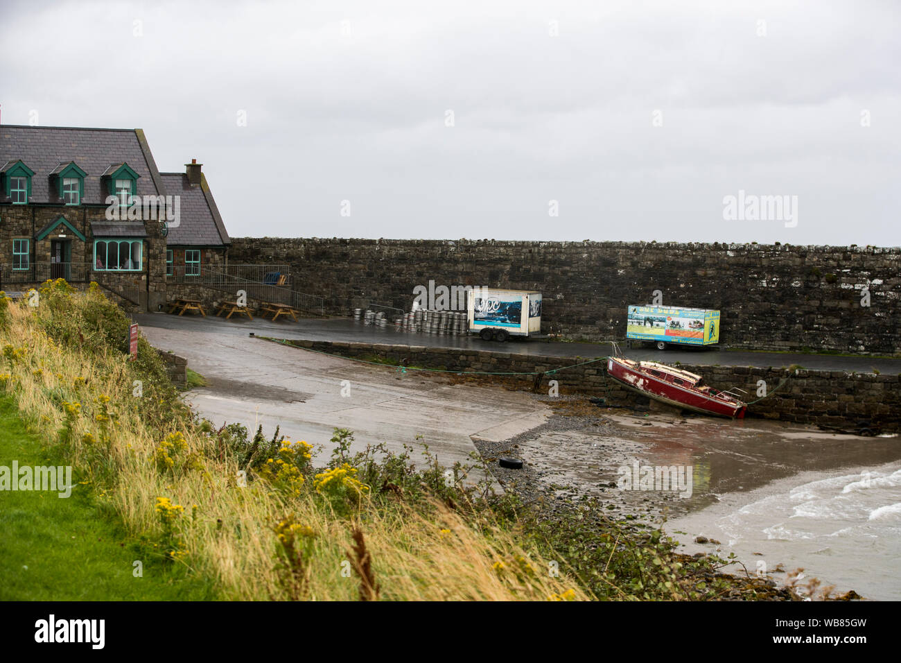 Mullaghmore Harbour In Co Sligo The Scene Where Forty Years Ago Bodies Were Carried To The Shore By Local Villagers After A Bomb Boat Planted On A Boat Carrying Lord Mountbatten Had