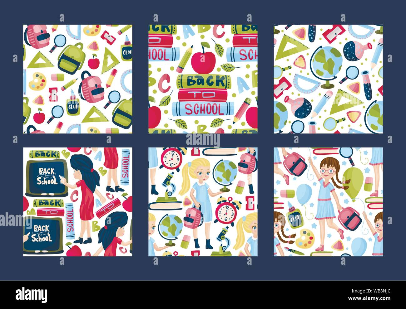 Back School Poster Design In Stock Photos & Back School