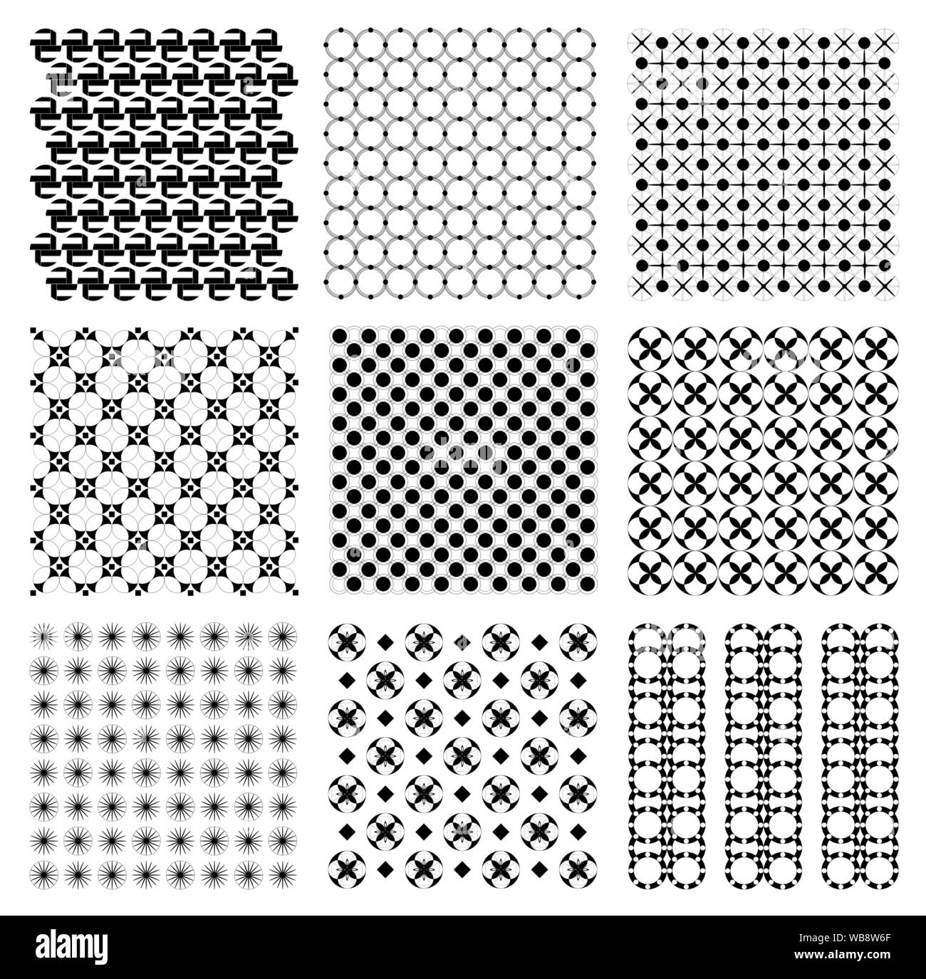 Seamless Vintage Japanese Retro Hexagon Pattern Illustration
