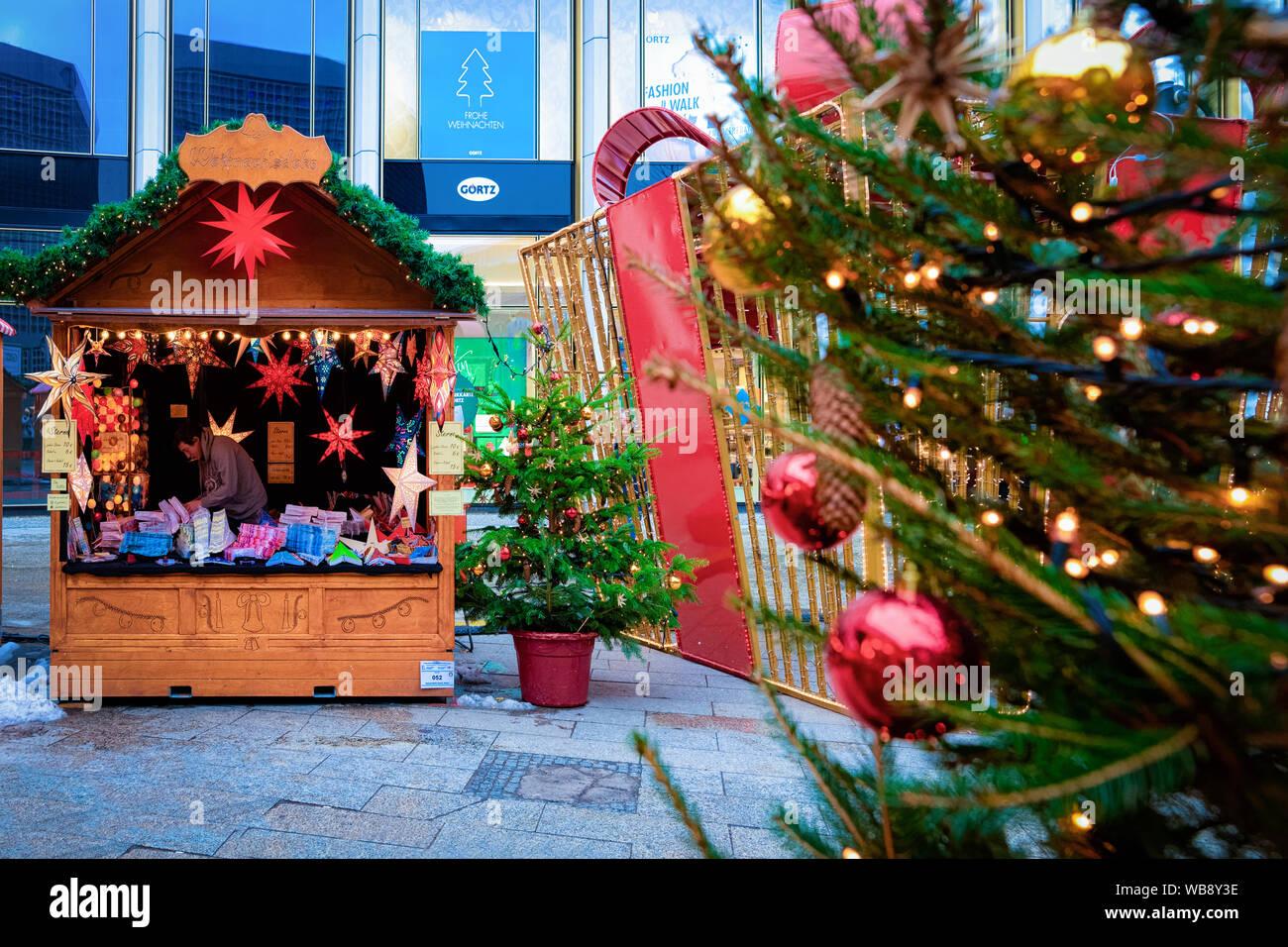 O Christmas Tree In German.Berlin Germany December 11 2017 Christmas Tree On