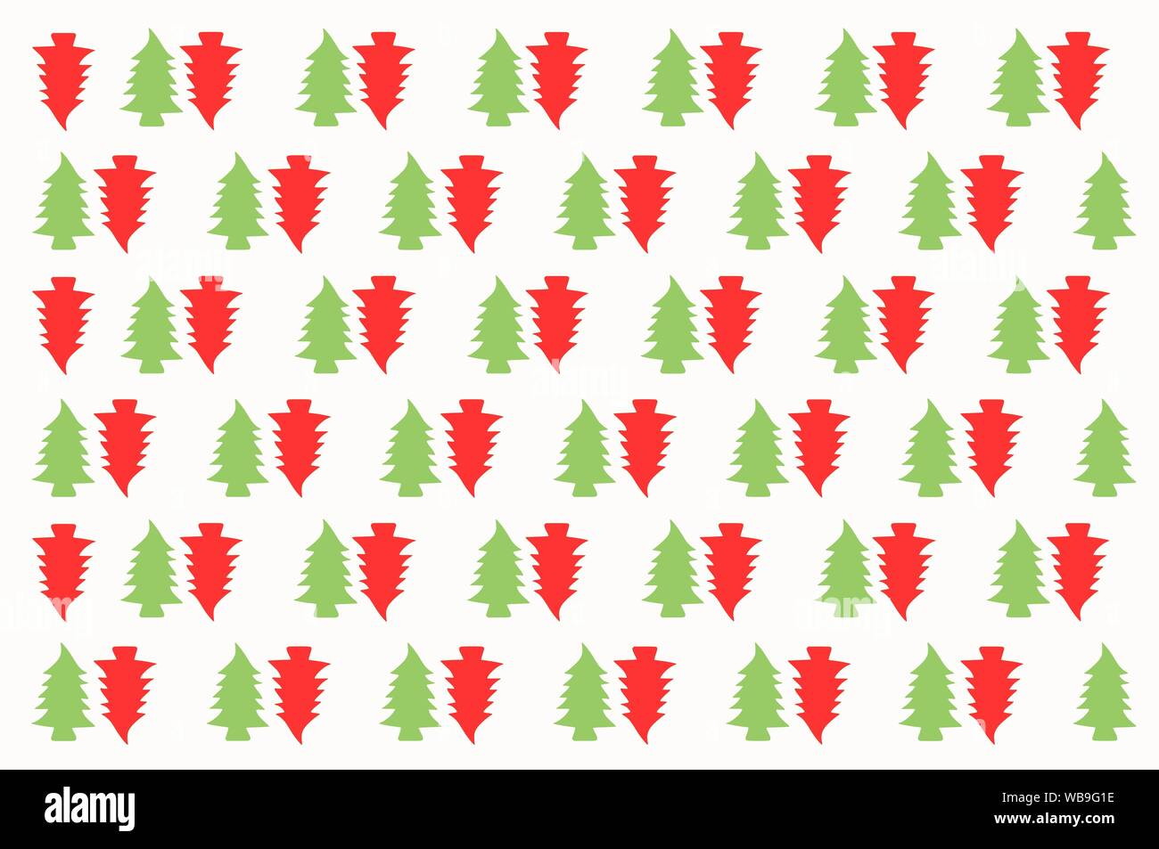 Seamless Christmas Tree Repeated Pattern Wrapping Paper Design