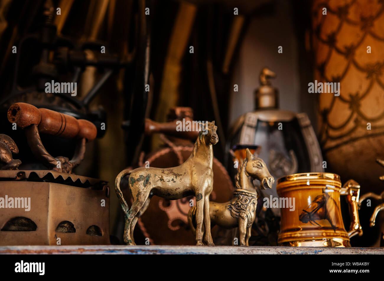 Aug 7 2014 Hua Hin Thailand Vintage Retro Horse Dolls