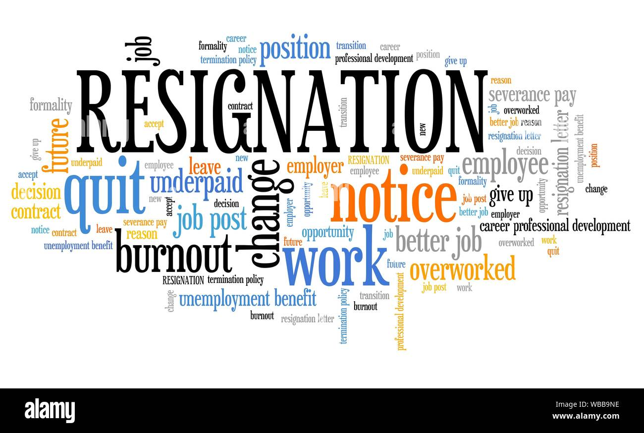 Resignation - job quitting and professional change. Career ...