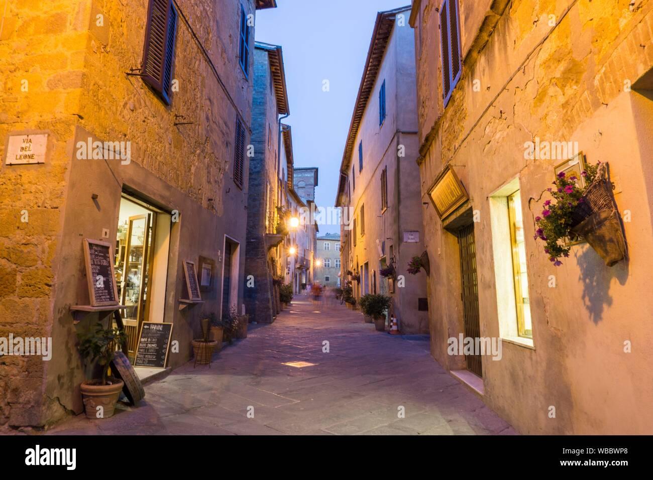 Pienza Orcia valley Tuscany on July 6, 2019 Italy. Stock Photo