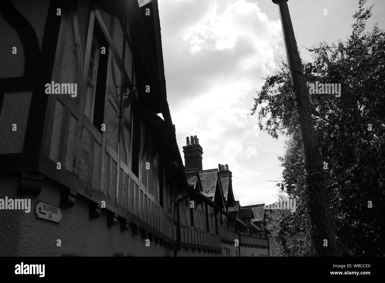 Dean Village Roofs Stock Photo Alamy