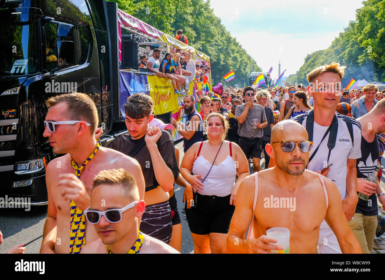 Berlin Christopher Street Day gay pride parade Stock Photo