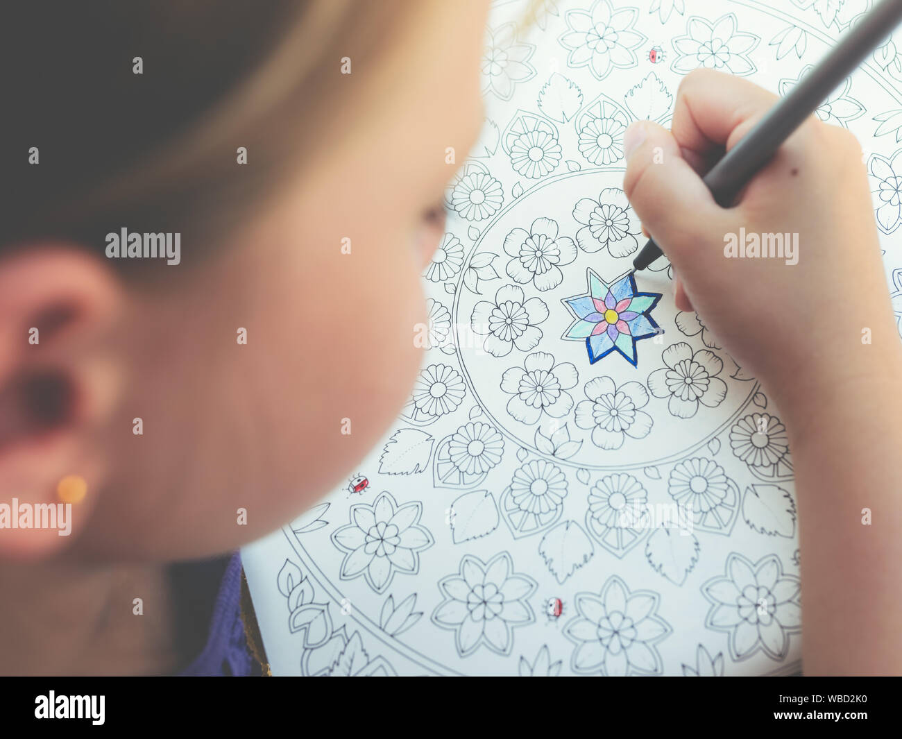 Cute Little Girl Outline Drawing High Resolution Stock Photography And Images Alamy