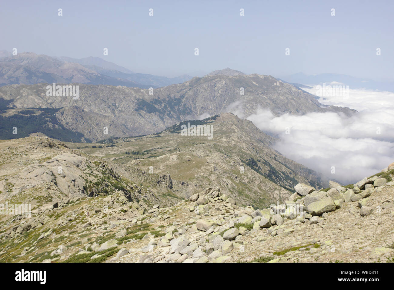 View North from Monte Incudine, France, Corsica, GR20 Stock Photo