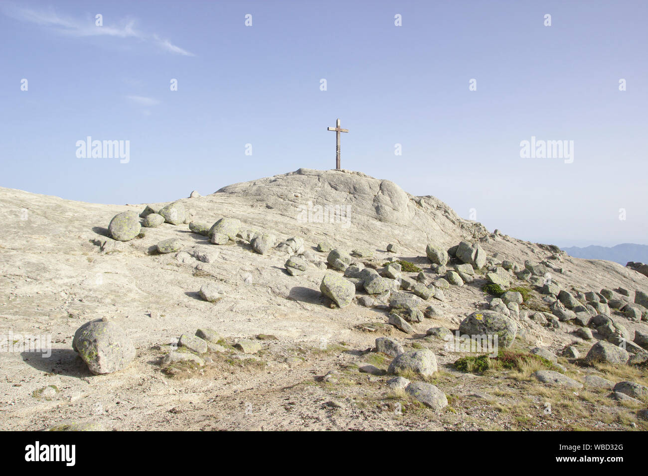 Summit of Monte Incudine, France, Corsica, GR20 Stock Photo