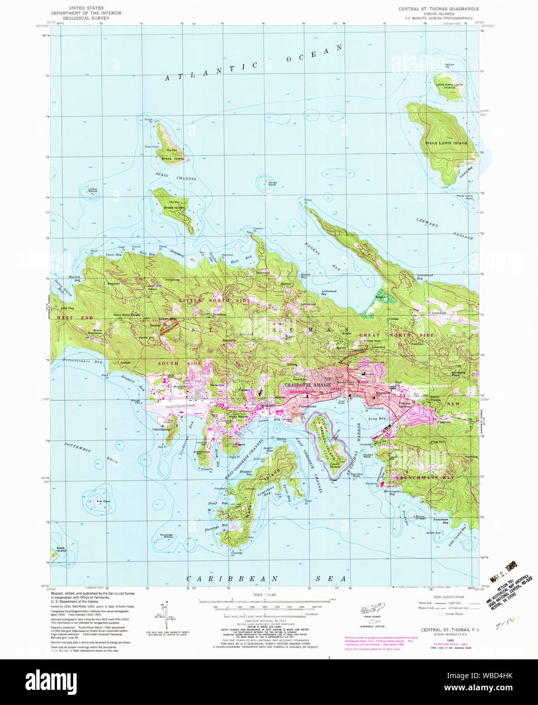 USGS TOPO Map Virgin Islands VI Central St Thomas 462190 ...