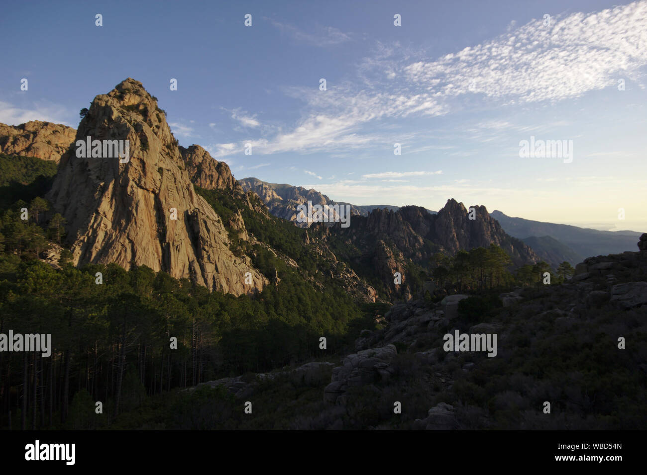 GR20 near Bocca di Monte Bracciutu, France, Corsica, GR20 Stock Photo