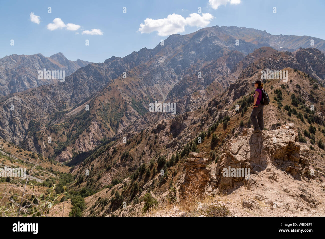 The Chatkal mountains in the Ugam-Chatkal National Park in Uzbekistan. Stock Photo