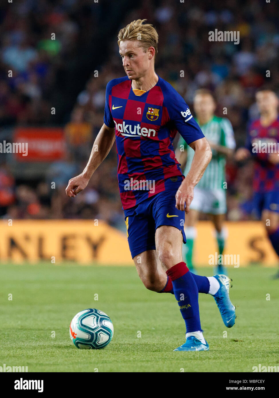Barcelona Spain 25th Aug 2019 Barcelona Spain August 25 Frenkie De Jong Of Fc Barcelona In Action During The Liga Match Between Fc Barcelona And Real Betis At Camp Nou On