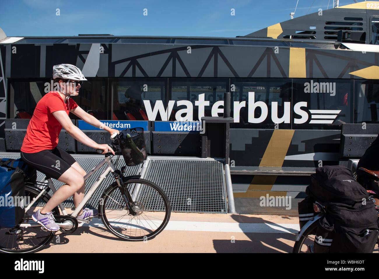 Dordecht. Waterbus. Foto: Gerrit de Heus. The Netherlands. Dordrecht. Waterbus. Photo: Gerrit de Heus Stock Photo