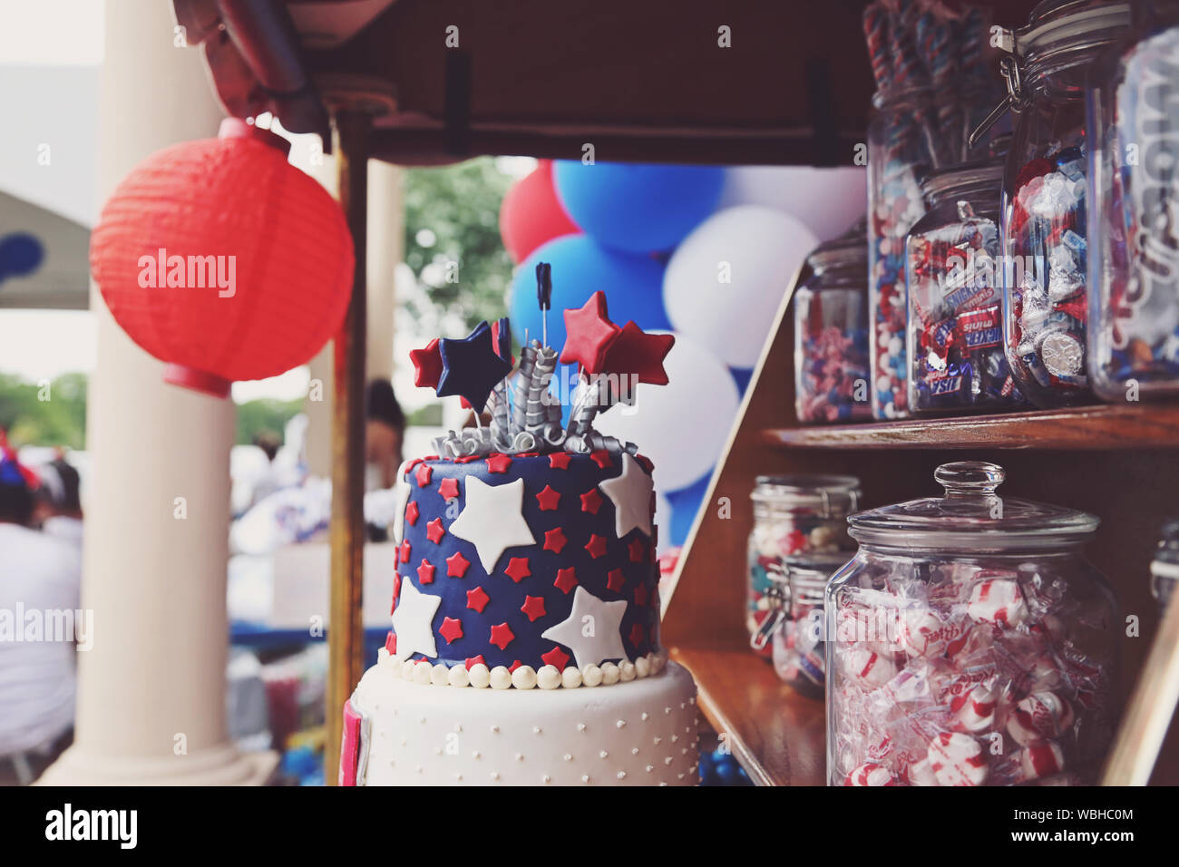Enjoyable Close Up Of Cake For Sale At Market Stall Stock Photo 265299348 Birthday Cards Printable Opercafe Filternl