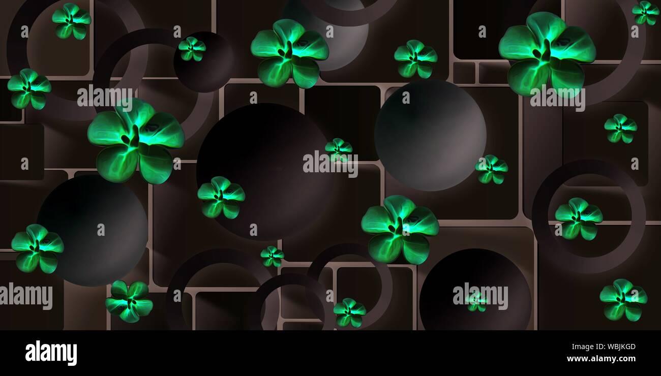 3d hd flower wallpaper design for wall WBJKGD