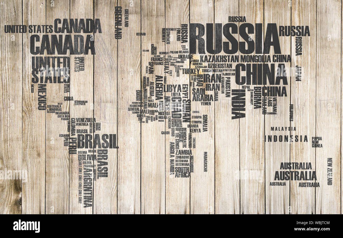 3d world map wallpaper design for wall WBJTCM