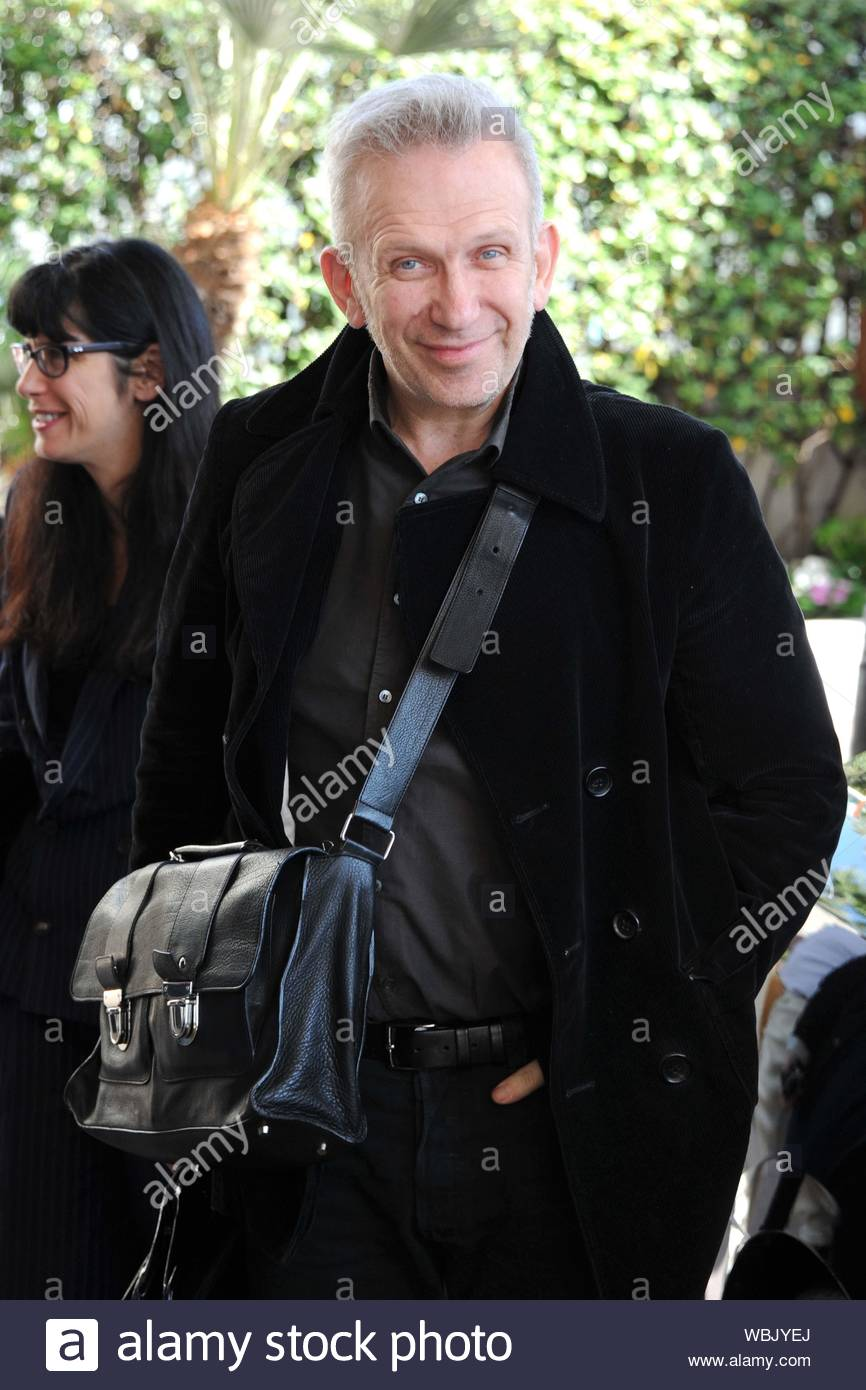 Cannes France French Fashion Designer Jean Paul Gaultier Arrives At The Hotel Martinez In Cannes And Smiled For The Cameras Before Heading In The French Fashion Designer Will Be A Member Of