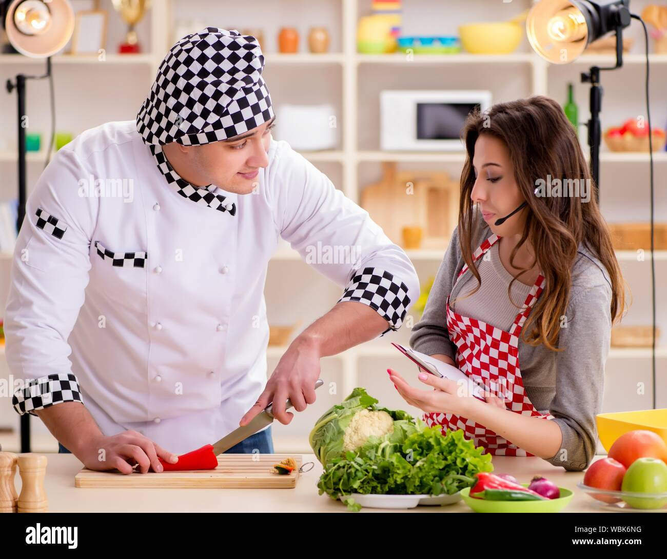 The Food Cooking Tv Show In The Studio Stock Photo Alamy