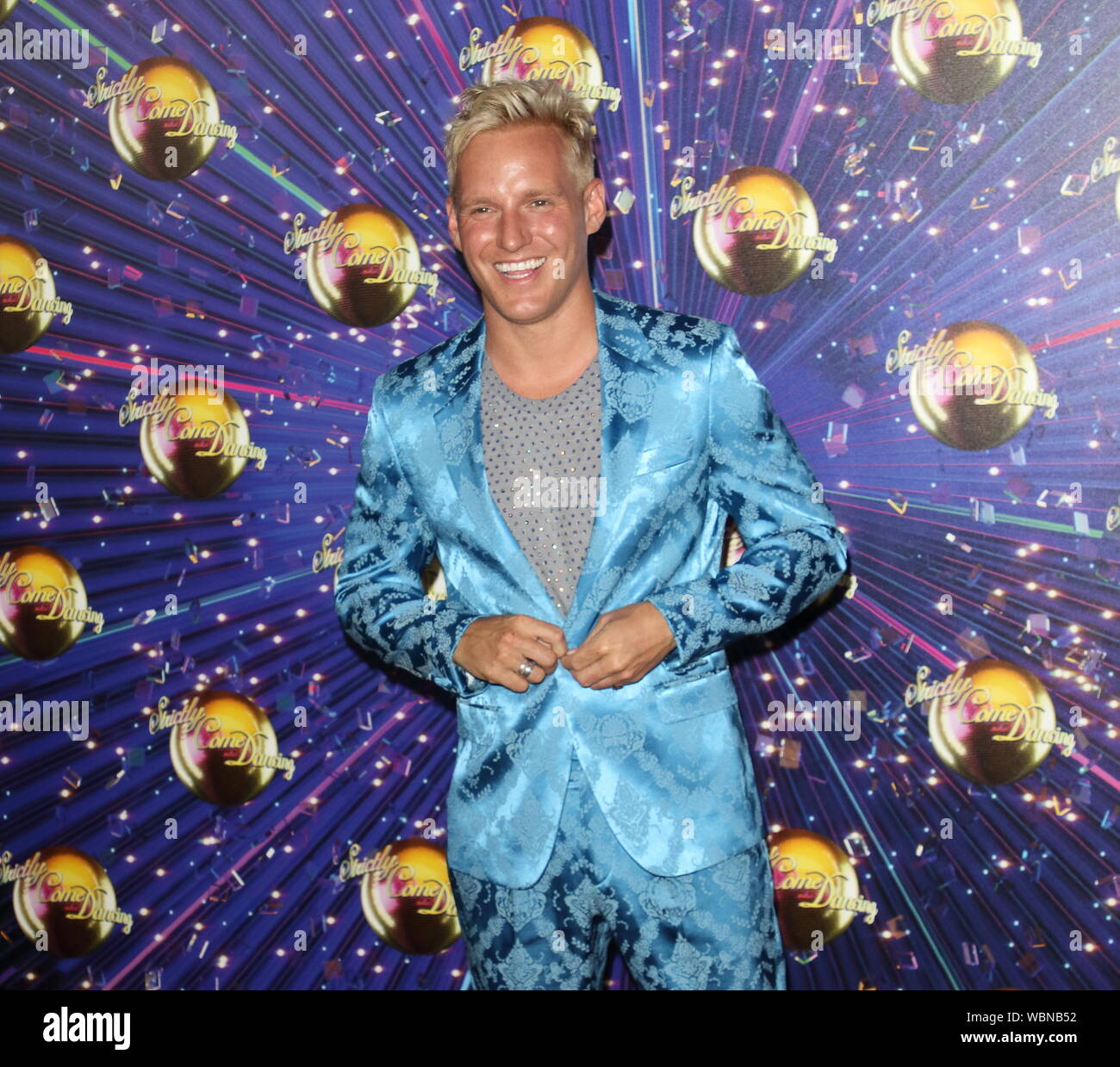 London, UK. 26th Aug, 2019. Jamie Laing at the Strictly Come Dancing Launch at BBC Broadcasting House in London. Credit: SOPA Images Limited/Alamy Live News Stock Photo