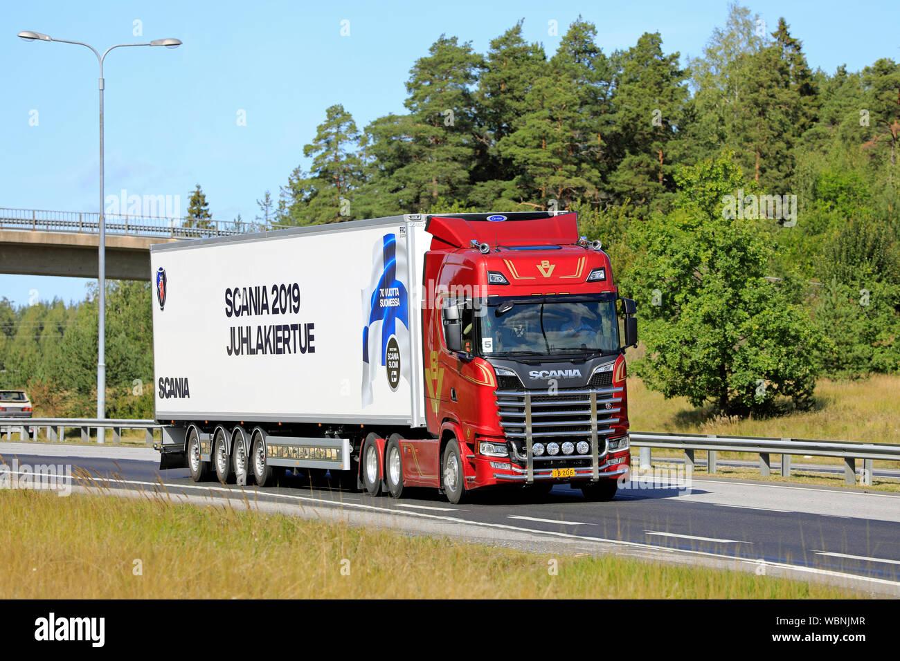 Turku, Finland  August 24, 2019  Next Generation Scania S650