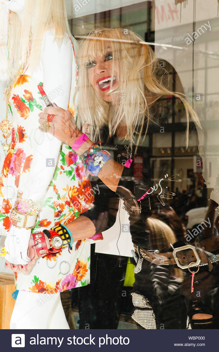 New York Ny One Of America S Most Iconic Designers Betsey Johnson Launches Her New Dress Collection At Macy S Herald Square Betsey Is Best Known For Her Feminine And Whimsical Designs Many