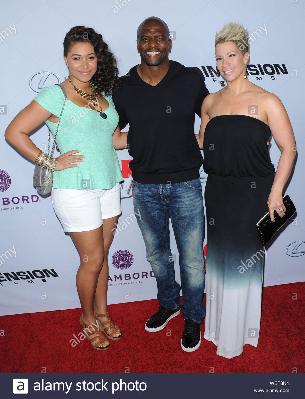 Hollywood Ca Part 2 Terry Crews His Daughter Azriel And Wife Rebecca Arrive At The Premiere