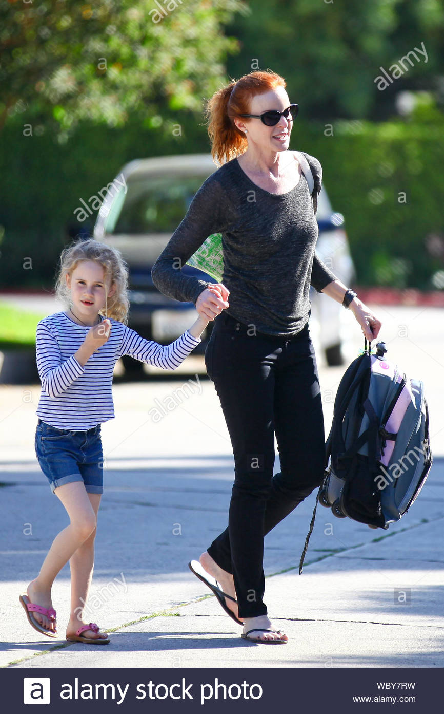 united kingdom half price new design Brentwood, CA - Redhead Marcia Cross and her twins Savannah and ...