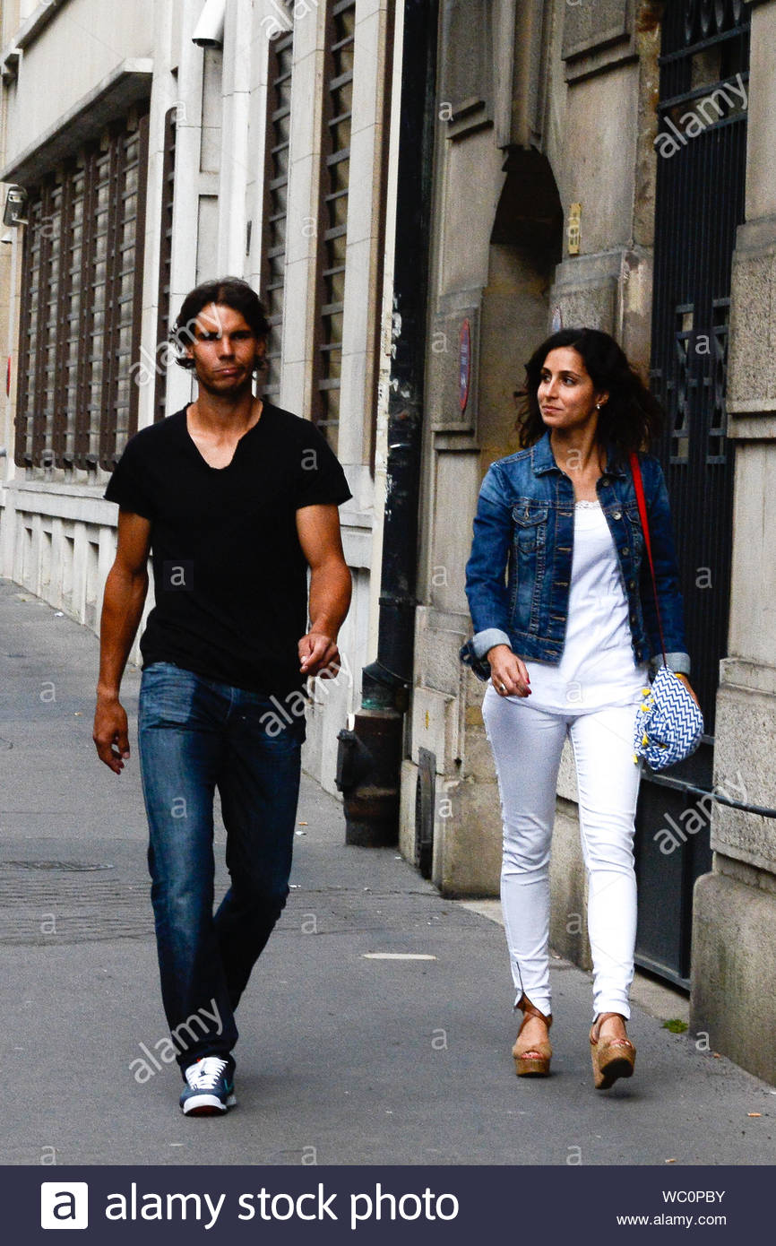 Paris France Spanish Tennis Player Rafael Nadal And His Girlfriend Xisca Perello Are Spotted Going For A Romantic Stroll During The French Tennis Open In Paris The Couple Has Been Dating