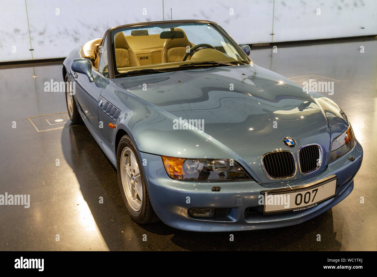 A Bmw Z3 A Two Seater Sports Cars 1995 On Display In The Bmw Museum Munich Bavaria Germany Stock Photo Alamy