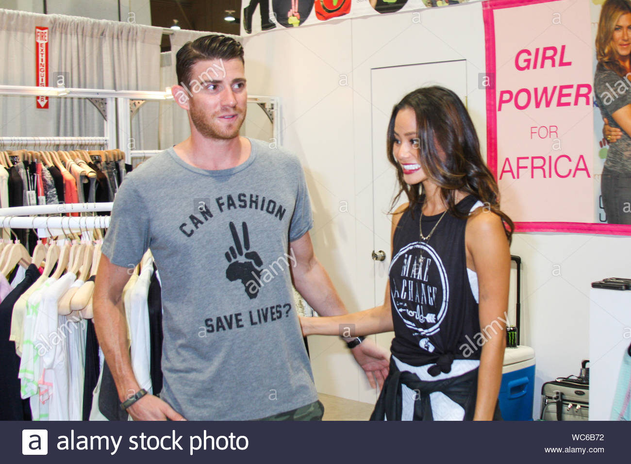 Las Vegas Nv Actress Jamie Chung And Actor Bryan Greenberg Attend The Magic Fashion Tradeshow In
