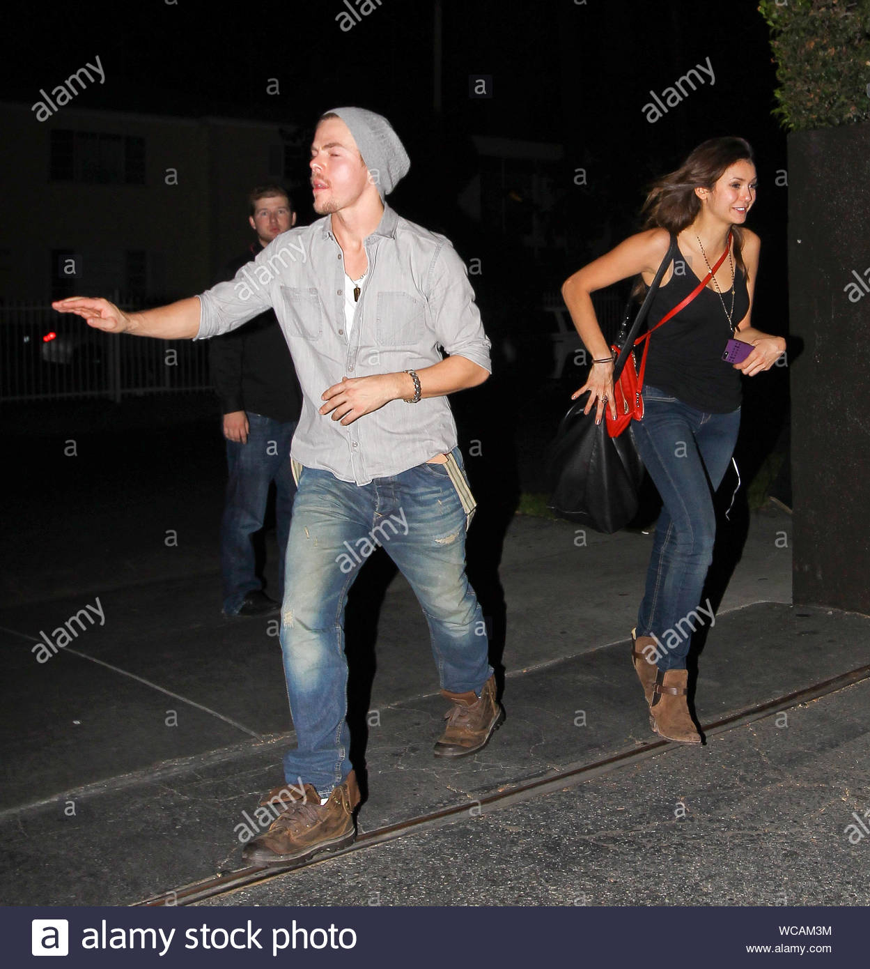 Los Angeles Ca After A Fun Night At Universal Studios Hollywood Halloween Horror Nights With Girlfriends Lilly Collins And Julianne Hough Nina Dobrev Was Spotted Arriving At The Roosevelt Hotel With