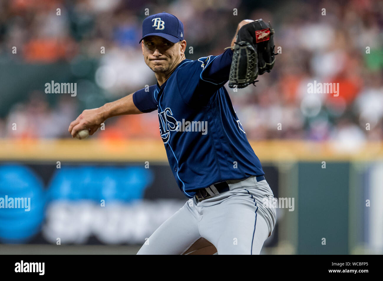 page 2 morton smith high resolution stock photography and images alamy https www alamy com houston texas usa 27th aug 2019 tampa bay rays starting pitcher charlie morton pitches against the houston astros in the 2nd inning at minute maid park in houston on tuesday august 27 2019 photo by trask smithupi credit upialamy live news image265785245 html