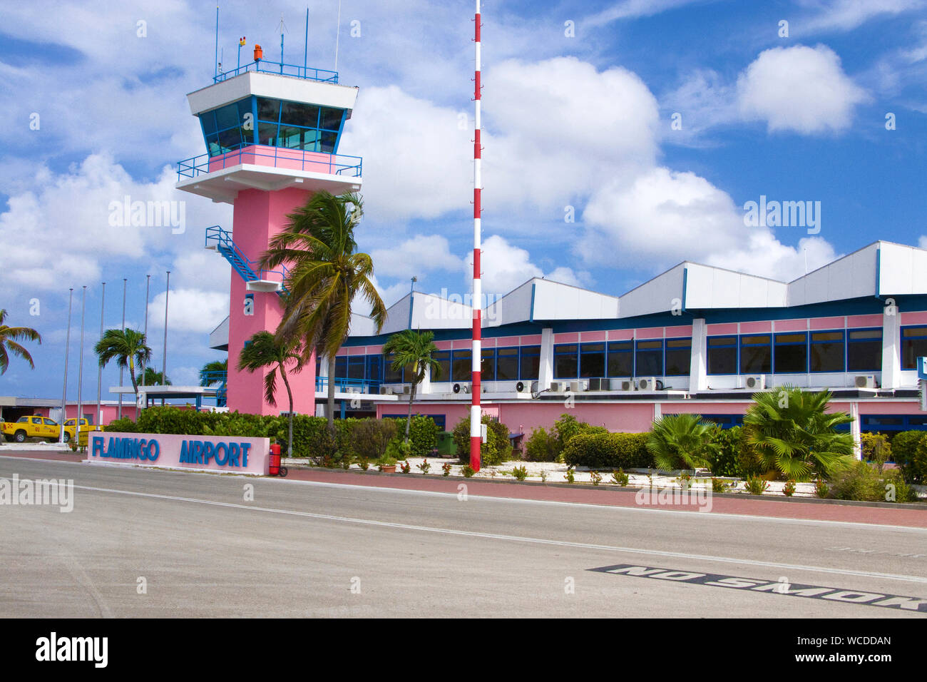 Tower of Flamingo Airport, Bonaire International Airport, Kralendijk, Bonaire, Netherland Antilles Stock Photo